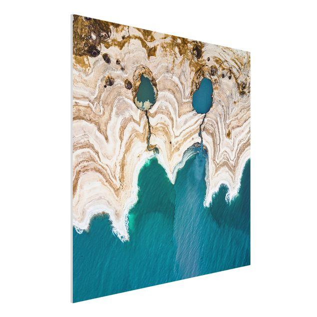 Forex Fine Art Print - Lagune in Israel - Quadrat 1:1
