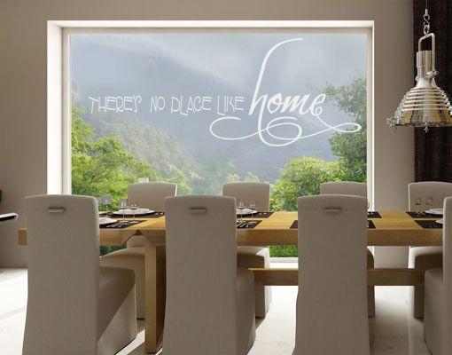 Fensterfolie - Fenstertattoo No.UL882 Home - Milchglasfolie