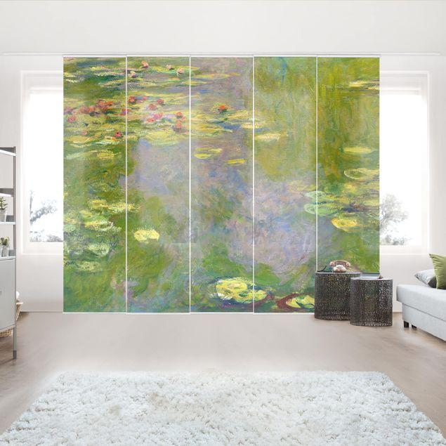 Schiebegardinen Set - Claude Monet - Grüne Seerosen - 6 Flächenvorhänge