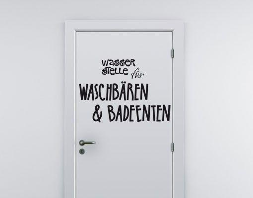 Wandtattoo Sprüche - Wandsprüche No.UL896 Wasserstelle