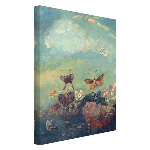 Leinwandbild - Odilon Redon - Schmetterlinge - Hochformat 3:2