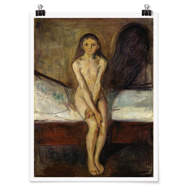 Poster - Edvard Munch - Pubertät - Hochformat 3:4