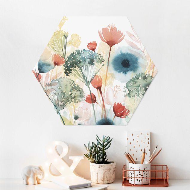 Hexagon Bild Forex - Wildblumen im Sommer I
