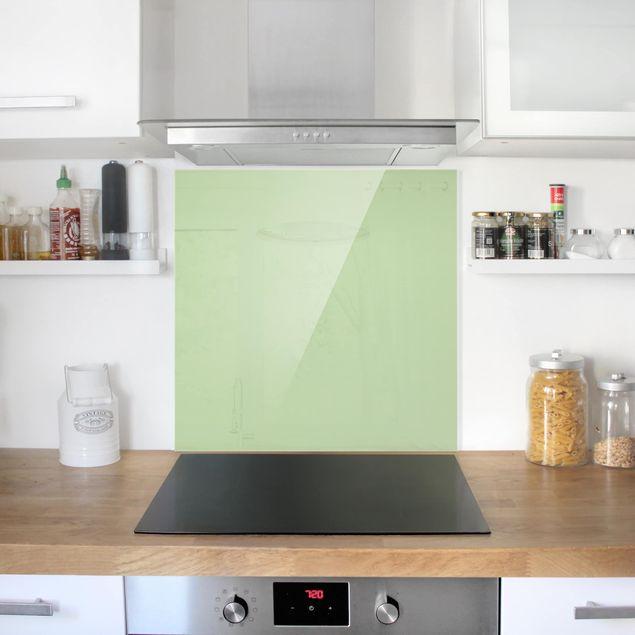 Glas Spritzschutz - Mint - Quadrat - 1:1