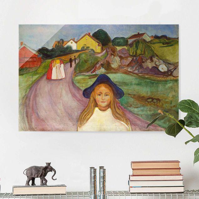 Glasbild - Edvard Munch - Weiße Nacht - Querformat 2:3