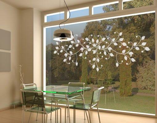 Fensterfolie - Fenstertattoo No.UL906 Geschmeidige Ranke - Milchglasfolie