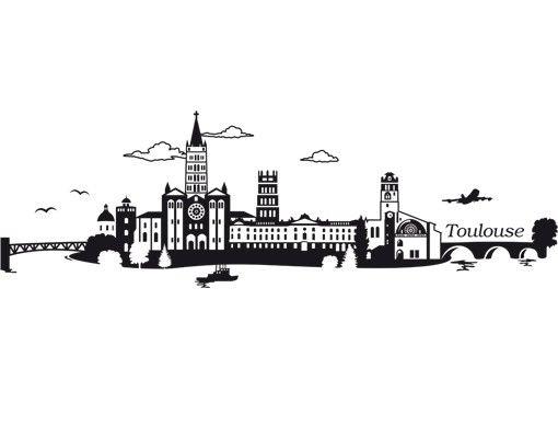 Stadt Toulouse - Wandtattoo Skyline - No.JS2 Toulouse Skyline