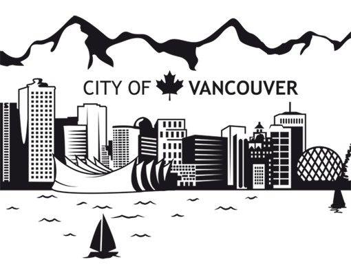 Wandtattoo Skyline No.JS3 Vancouver Skyline