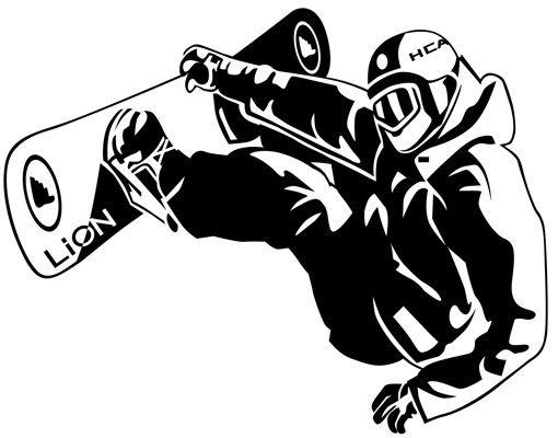 Wandtattoo No.1211 Snowboarder