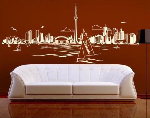 Wandtattoo Skyline No.EK156 Toronto Skyline