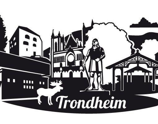 Wandtattoo Skyline No.EK160 Trondheim Skyline