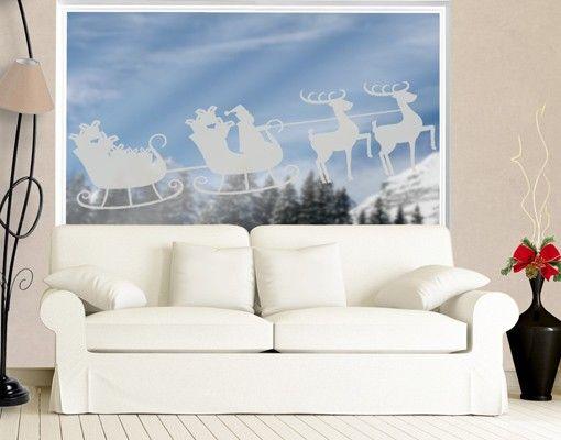 Fensterfolie - Fenstertattoo No.1221 Weihnachtsschlitten - Milchglasfolie