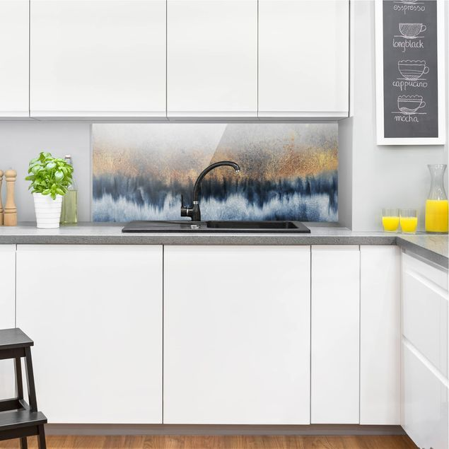 Spritzschutz Glas - Goldener Horizont - Panorama