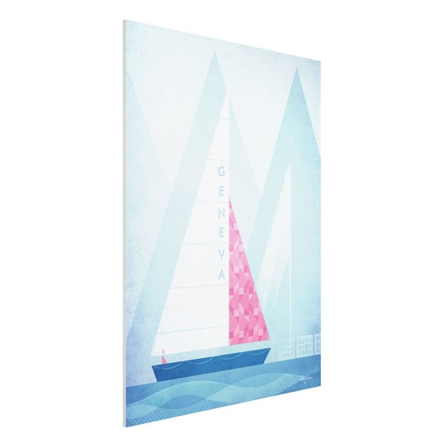 Forex Fine Art Print - Reiseposter - Genua - Hochformat 4:3