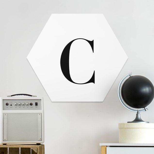Hexagon Bild Forex - Buchstabe Serif Weiß C