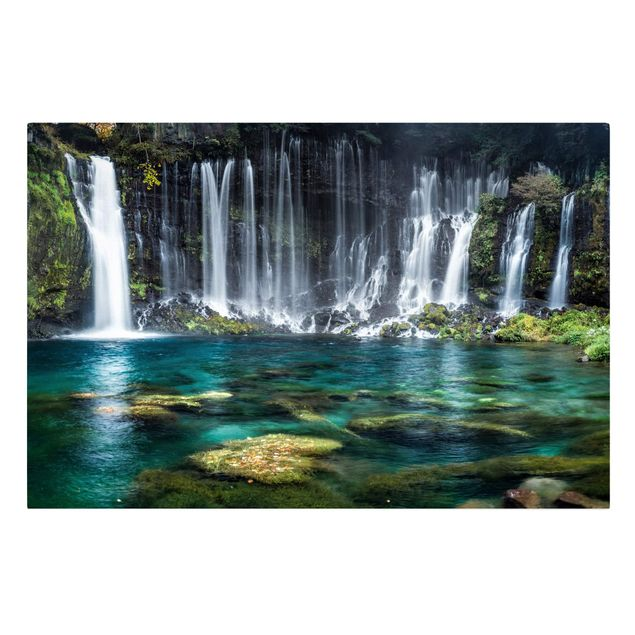 Leinwandbild - Shiraito Wasserfall - Querformat 3:2