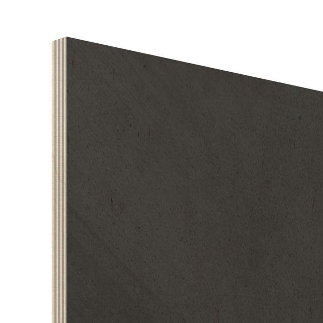 Holzbild - Illustration Hund Mops Malerei auf Schwarz Weiß - Hochformat 4:3
