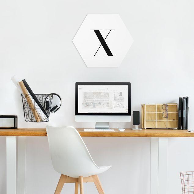 Hexagon Bild Forex - Buchstabe Serif Weiß X