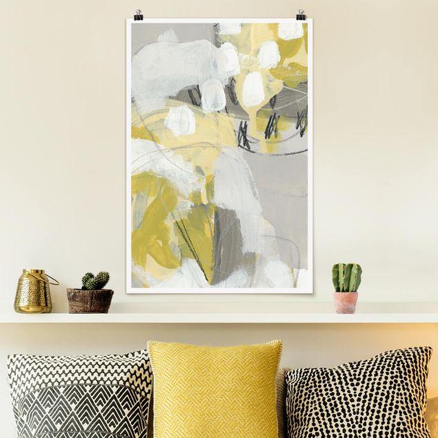 Poster - Zitronen im Nebel I - Hochformat 3:2