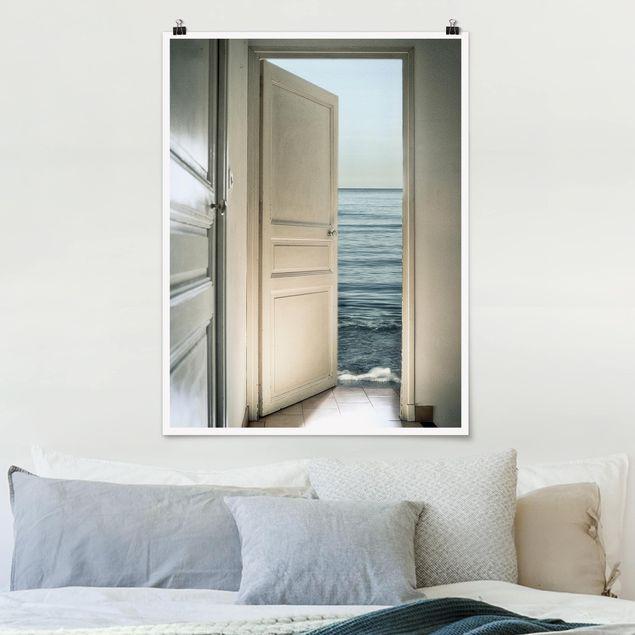 Poster - Behind the Door - Hochformat 3:4