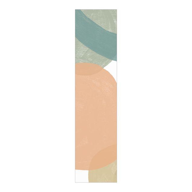 Schiebegardinen Set - Pailletten im Detail II - Flächenvorhang