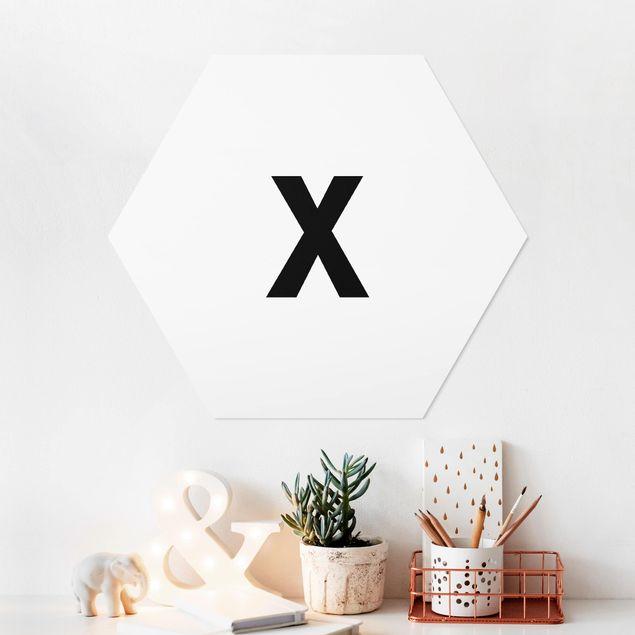 Hexagon Bild Forex - Buchstabe Weiß X