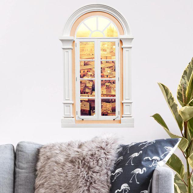 3D Wandtattoo - Fenster Mediterran Fiery Siena