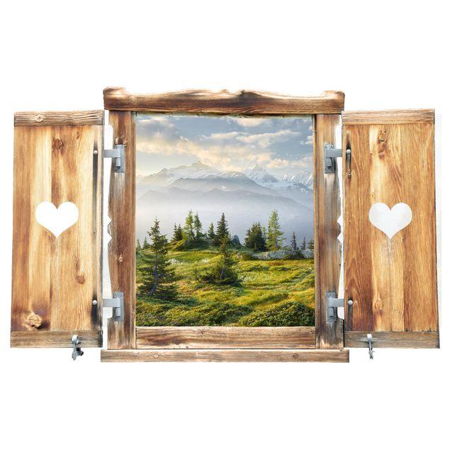 3d Wandtattoo Fenster Mit Herz Emosson Wallis Schweiz