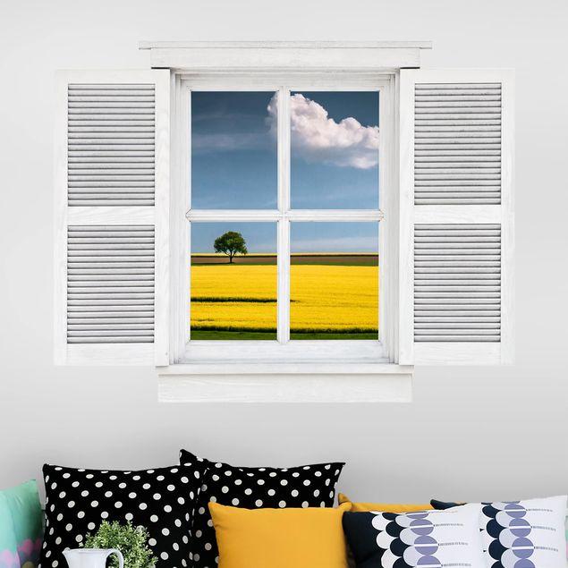 3D Wandtattoo - Flügelfenster Der Baum und die Wolke