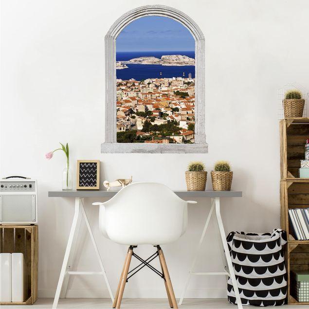 3D Wandtattoo - Steinbogen Marseille
