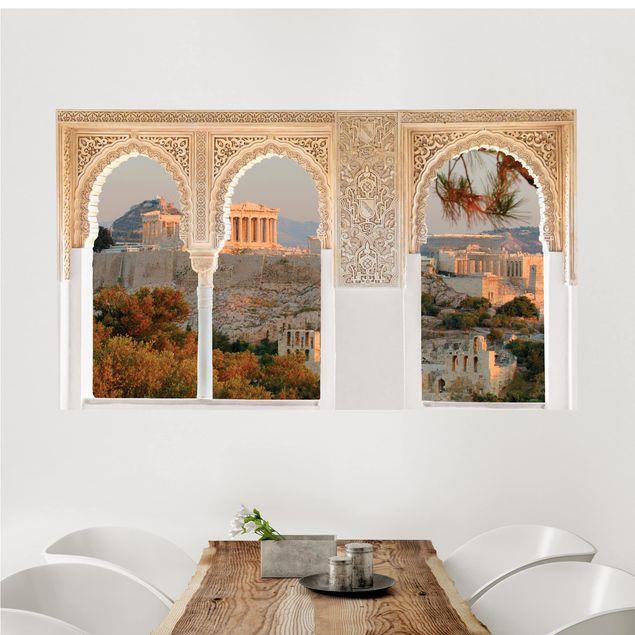 3D Wandtattoo - Verzierte Fenster Akropolis