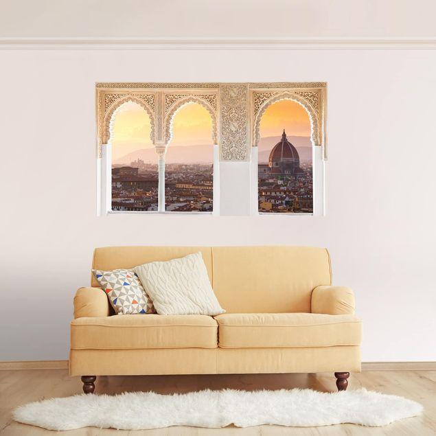3D Wandtattoo - Verzierte Fenster Florenz