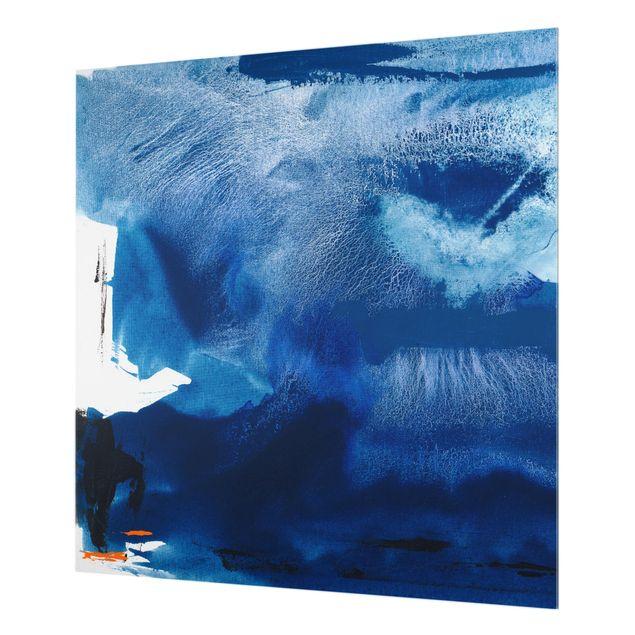 Glas Spritzschutz - Tag am Meer I - Quadrat - 1:1