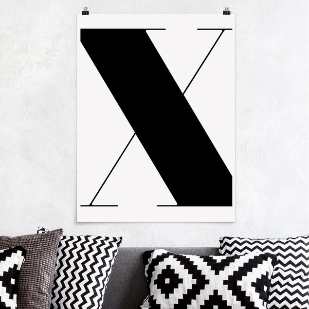 Poster - Antiqua Letter X - Hochformat 3:4