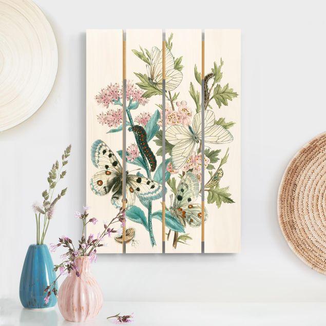Holzbild - Britische Schmetterlinge I - Hochformat 3:2