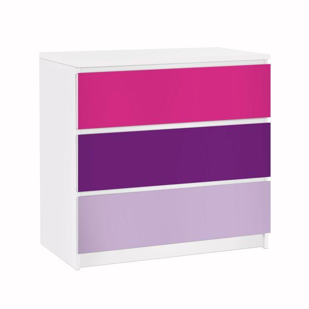 Möbelfolie für IKEA Malm Kommode - Klebefolie Set Girly