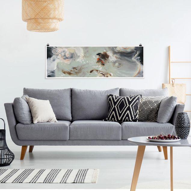 Poster - Gezeiten mit Strandgut IV - Panorama Querformat