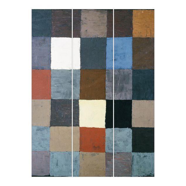 Schiebegardinen Set - Paul Klee - Farbtafel (auf maiorem Grau) - Flächenvorhänge