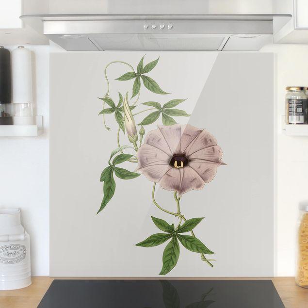 Glas Spritzschutz - Florale Schmuckstücke IV - Quadrat - 1:1