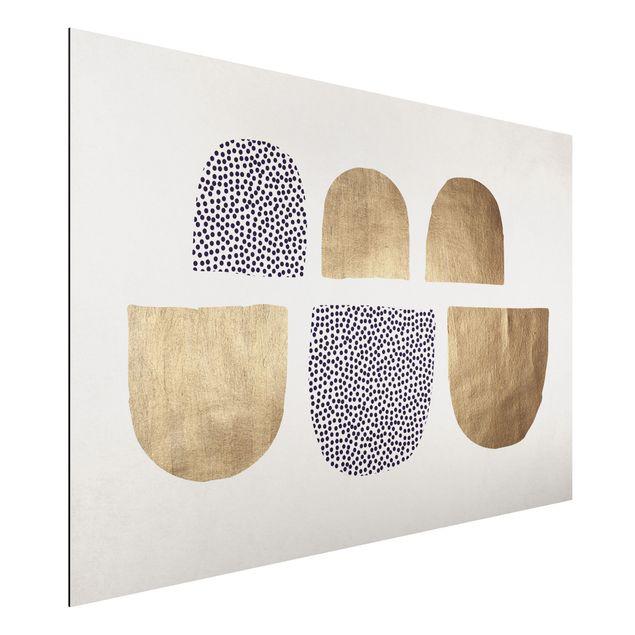Aluminium Print - Geometrischer Halbkreis III - Querformat 2:3