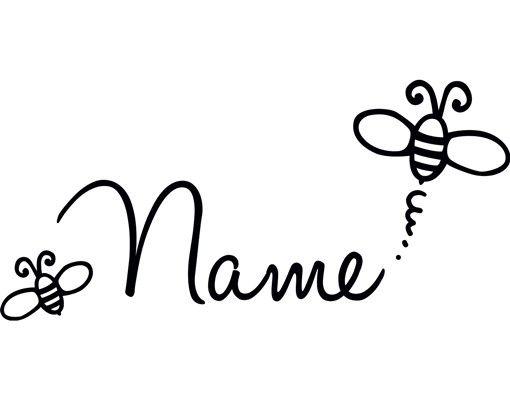 Wandtattoo Sprüche - Wandtattoo Namen No.FB174 Wunschtext Biene