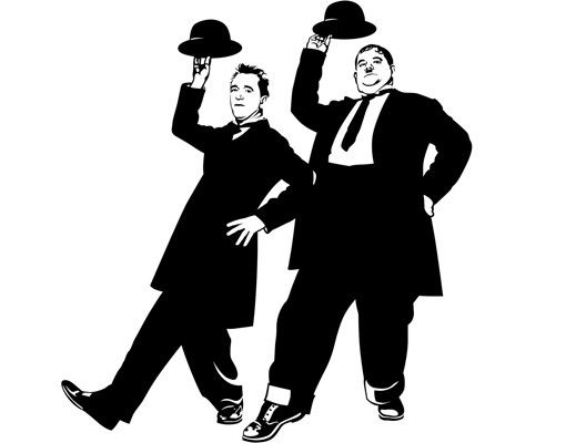Wandtattoo No.1229 Laurel & Hardy