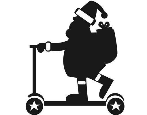 Wandtattoo No.1234 Flotter Weihnachtsmann