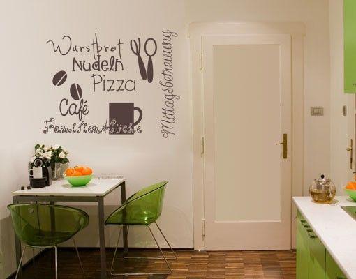 Wandtattoo Sprüche - Wandworte No.UL925 KüchenDoodles Drei