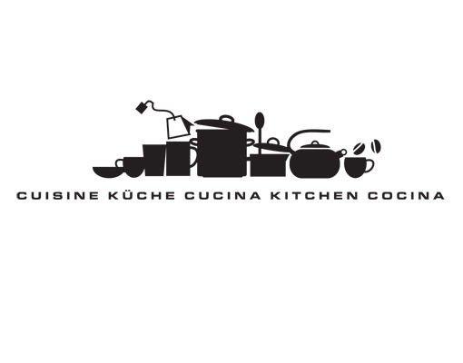 Wandtattoo Skyline No.UL926 KüchenSilhouettte