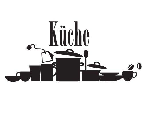 Wandtattoo Sprüche - Wandworte No.UL928 Küchensilhouette 2