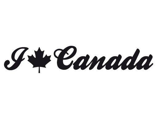 Wandtattoo Sprüche - Wandworte No.EK158 I Love Canada