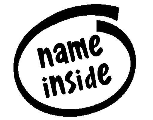 Wandtattoo Sprüche - Wandtattoo Namen No.TO6 Wunschtext Inside