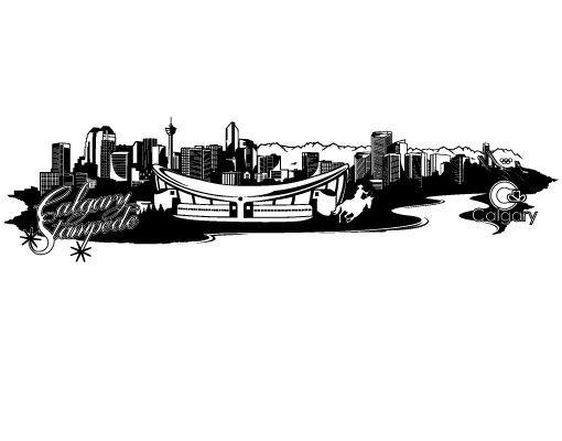 Stadt Calgary - Wandtattoo Skyline - No.FB104 Calgary Skyline Wandtattoo
