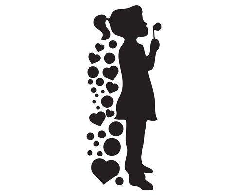 Wandtattoo No.SG6 Seifenblasen-Mädchen